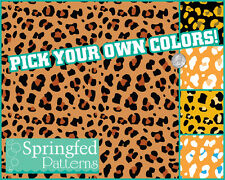 LEOPARD SPOTS PATTERN VINYL #3 Craft Decal Sheets Scrapbook PICK YOUR OWN COLORS