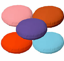 5+Colors Faux Leather Round Soft PU Thick Mattresses Cushion Cover Custom Size