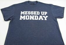 Mens NEW Spencers Messed Up Monday Blue Short Sleeve T-Shirt Size M L XL 2XL