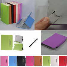 "Colorful Flip PU Leather Case Cover+Stylus For 7"" Ematic EGQ 7 HD EGQ307 Tablet"