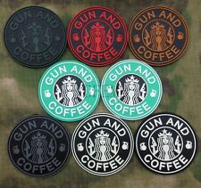 Starbucks Coffee GUN AND COFFEE Grenade Tactical Morale 3D PVC Velcro Patch