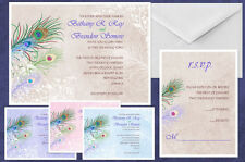 Peacock Wedding Invitations & Response Cards Custom Personalized