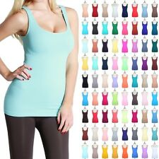 High Quality Seamless Tunic Long Tank Top Sleeveless Stretch Spandex ONE SIZE
