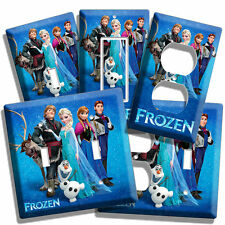 DISNEY FROZEN ANNA ELSA HANS OLAF BEDROOM ROOM DECOR LIGHT SWITCH OUTLET PLATES