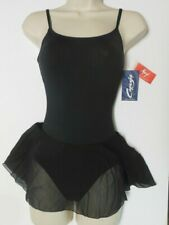 NWT Black Capezio Ballet dress Meryl skirted leotard MC150 Camisole Adj strap
