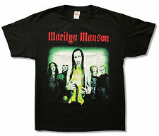 "MARILYN MANSON ""HOLLYWOOD"" PHOTO BLACK T-SHIRT NEW OFFICIAL ADULT"