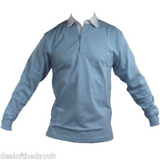 Phase One Mens Rugby Shirts Cotton Long Sleeve Top Shirt S-2XL