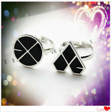KPOP EXO EXO-M EXO-K Ring XOXO New Alloy R ing  GROWL WOLF LOGO Jewelry