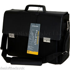 Large Italian Leather Laptop Briefcase Black Brown 15.4 15.6 Mens Ladies Case