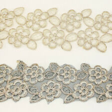 Metallic Embroidered Venise Venice Lace Trim #269 - Bridal Wedding Dress Supply