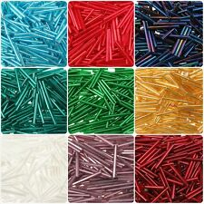 25mm Bugle Seed Glass Tube Beads, 25G,  BUY ONE GET ONE FREE! 210 Beads!