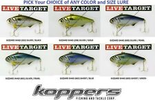 Koppers Live Target Shad Lipless Rattle Trap Baits (GZV) - Pick Any Gizzard Lure