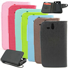 Wallet MLT Button Stand Leather Flip Skin Case Cover For Sony Xperia U ST25i