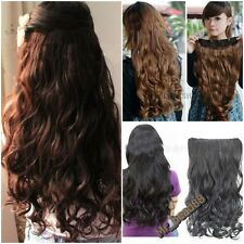NEW Fashion Full Head Clip Curly/Wavy Women Synthetic Hair Extension 3 Colors