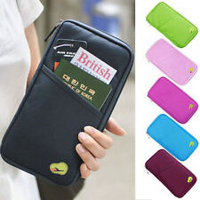 New Travel Wallet Organizer Passport Credit Card Holder Cash Purse Case Bag UK