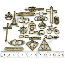 Wholesale Infinity Heart Cross Love Anchor Owl Charms Connector Pendants Y51