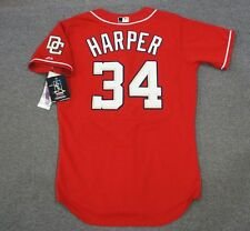 Bryce Harper Washington Nationals Authentic Alternate Red Game Jersey Men's