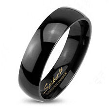 Tungsten Black Plain Wedding Band Ring Size 4-13 Choose 2mm 4mm or 6mm