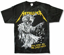 METALLICA SCALES ALL OVER PRINT BLACK T SHIRT JUSTICE FOR ALL LYRICS NEW