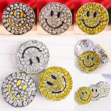 Austrian Crystal Round Smiling Smile Face Heart Hole Loose Spacer Beads Findings