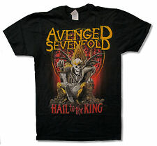 """AVENGED SEVENFOLD """"NEW DAY RISES"""" BLACK SLIM FIT T-SHIRT NEW OFFICIAL ADULT A7X"""