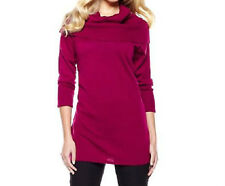 Twiggy London Slouchy Cowl-Neck Sweater $49.90 RASPBERRY