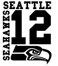 Seattle Seahawks 12th Man Fan Car Decal for Wall Man Cave or Vehicle You Choose