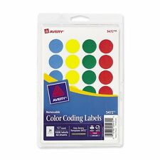 Avery Color Coding Labels, Removable, Round, Choose Label Color and Diameter