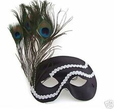 Feather Mask Peacock YOUR COLOR CHOICE Mardi Gras New Orleans Halloween Prom