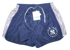 VICTORIA'S SECRET PINK YANKEES SHORTS New York Yanks Blue Gray NY Gym Work Out