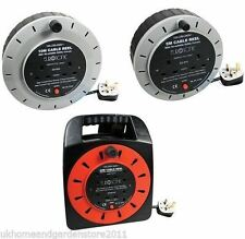 Standard Extension Reels Electrical Power Lead Cable Mains Plug 5m 10m 25m