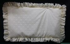 Lace Pillow sham - all sizes available White or Bone Color - sold per piece
