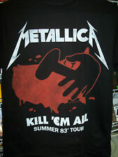 METALLICA KILL 'EM ALL SUMMER 1983 TOUR T-SHIRT NEW !