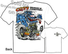 Ed Roth Rat Fink Big Daddy T Shirt Hot Rod Clothing Breakfast Of Champions Tee