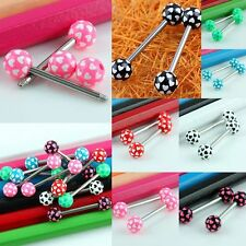 Wholesale Hearts Ball Stainless Steel Barbell Piercing Tongue Bars Rings Studs