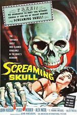 F12 Vintage The Screaming Skull 1950's Horror 1950's B Movie Poster - A3 A2