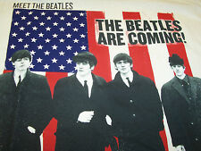 THE BEATLES ARE COMING MEET THE BEATLES FEB 11, 1964 T-SHIRT NEW !