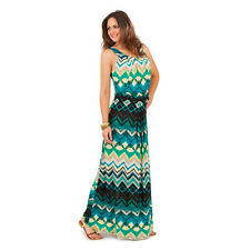 Ladies womens  print maxi dress holidays SUMMER plus size 8 10 12 14 16 18 20 22