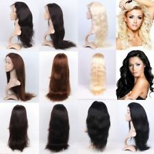 """Express AAAA+ 100% Remy Indian Human Hair Full Lace Wig Natural Straight 14""""-30"""""""