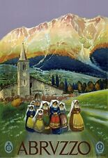 T15 Vintage 1920's Italy Abruzzo Italian Travel Poster Re-Print A1/A2/A3/A4