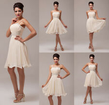2014 Short Mini Chiffon Ball Gown Bridesmaid Evening Wedding Party Prom Dresses