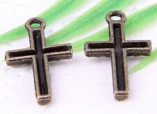 Wholesale 40/90Pcs Bronze Plated (Lead-Free)Cross Charms Pendant 22x12mm