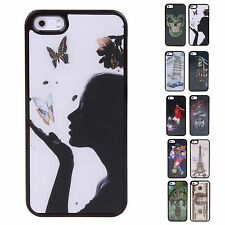 Top Designed 3D Pattern Anti Skid Case Cover Skin Back For Apple iPhone 5/5S New
