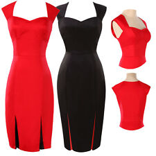 SALES~Ladies Women Pinup Party Prom Slim Fitted Bodycon Work Career Pencil Dress