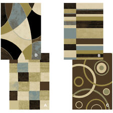 "Contemporary Geometric MultiColor 8x11 Area Rug Modern Carpet -Actual 7'8""x10'4"""