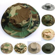 Combat Camo Camouflage Ripstop Army Military Boonie Bush Jungle Hat Cap Fishing