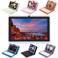 "16GB iRulu 7"" Android 4.2 Tablet Dual Core Dual Cam White w/Multi-Color Keyboard"