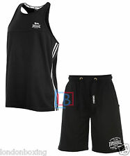 Lonsdale Singlet & Shorts Gym Black Singlet & Shorts Outfit FREE POST