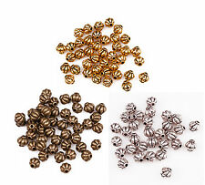40Pcs Zinc Alloy Lantern Shape Spacer Bead For Jewelry 4 Colors For Pick
