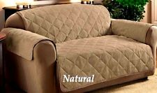 ITS TAN/NATURAL FAUX SUEDE PET DOG KIDS SLIP COVER SOFA LOVESEAT CHAIR PROTECTOR